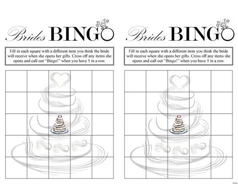 Bridal Shower Bingo Printable Free Image Cabinets And Shower Mandra Tavern Com Bridal Bingo Template For Word