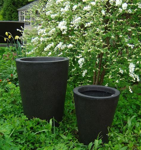 large plastic garden pots modern patio outdoor