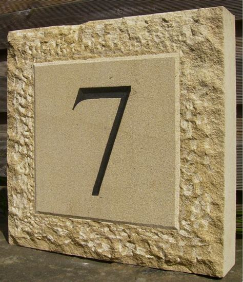 design house numbers uk hand carved stone house number szyld pinterest