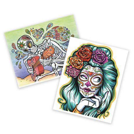 crayola sugar skulls art with edge colouring book