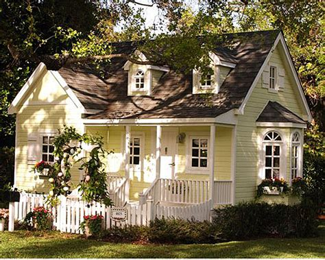Yellow Cottage by Adorable Cottages With Porches And Gardens