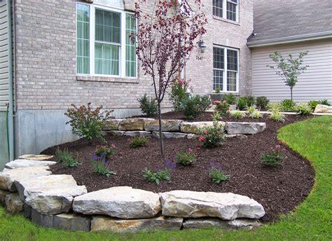 boulder retaining walls landscaping st louis landscape design landscape architecture