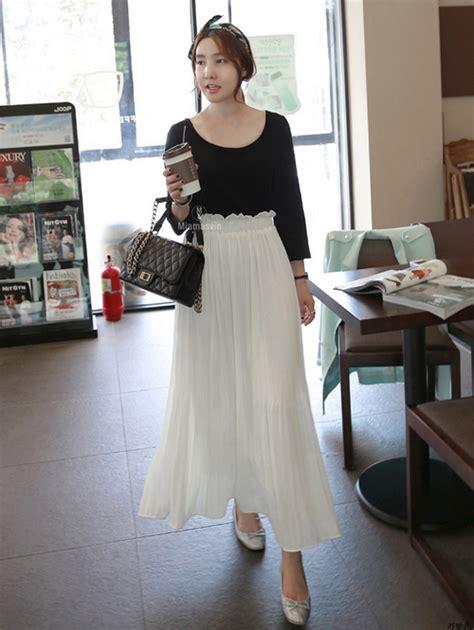 Annbaby 8 H Skirt Rok Korea miamasvin pleated maxi skirt kstylick korean fashion k pop styles fashion