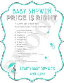 free printable price is right baby shower template 8 best images of baby price is right printable