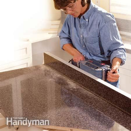 how to install a bar top how to install a countertop the family handyman