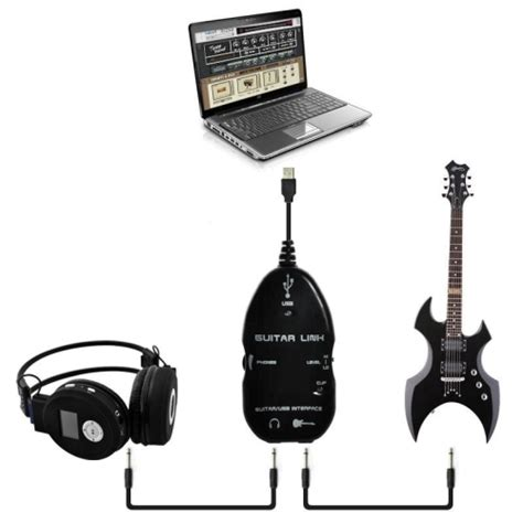 Usb Guitar Link Bandung vztec usb guitar link cable vz vs2261 black
