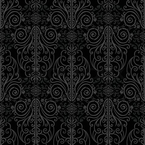 Abstract Beautiful Black Background Royal Damask