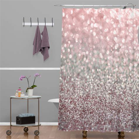 Girly Curtains Ideas Argyropoulos Girly Pink Snowfall Shower Curtain Tubs Bath And Apartments