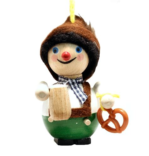 steinbach bavarian pretzel beer man german wood christmas