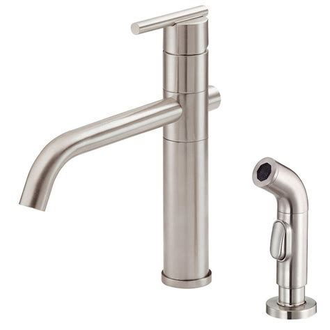 danze single handle kitchen faucet danze parma single handle side sprayer kitchen faucet in