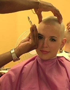 women head shave barber chair 585 best images about bald blond girl on pinterest
