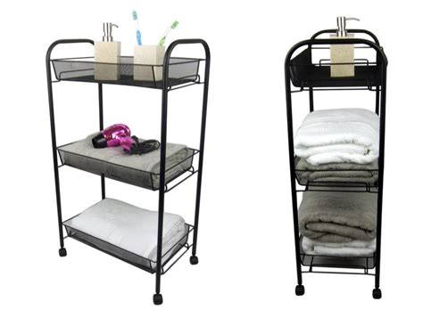 bathroom carts 3 tier bathroom storage trolley toiletry linen cart metal