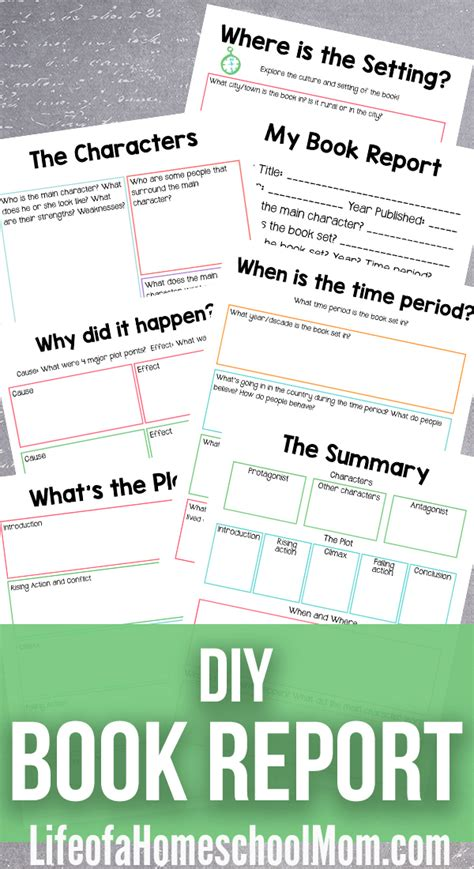 what makes a book report diy book report kit