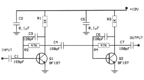 transistor vhf lifier 20db vhf lifier circuit diagrams schematics electronic projects