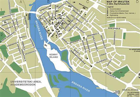 irkutsk map map of irkutsk way to russia guide