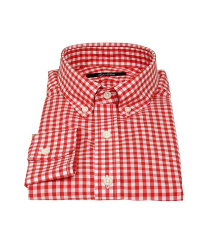 design lab red gingham dress canclini red gingham shirts by proper cloth