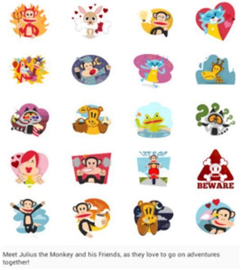theme line android paul frank paul frank and disney villains stickers arrive on