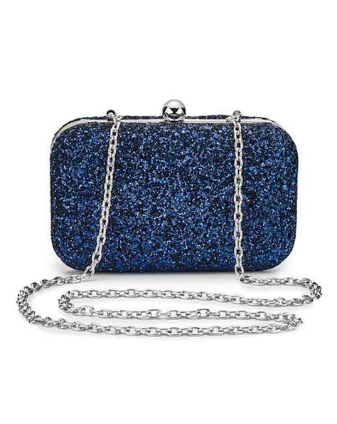 Clarks Velvet Joffie Bag by Navy Glitter Clutch Bag Marisota