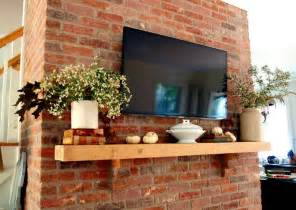 Decorating Ideas For Brick Fireplace Wall Decoration Chimney Fireplace Mantel With Brick Walls