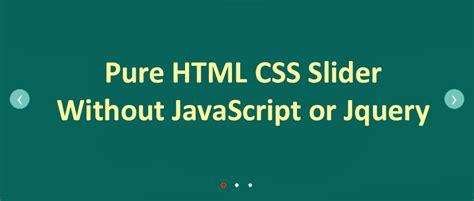html design without css pure html css slider without javascript or jquery in web
