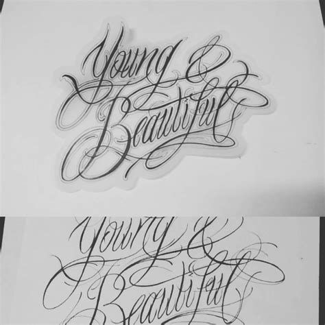 tattoo font young and beautiful let the ink be with you beautiful let s make