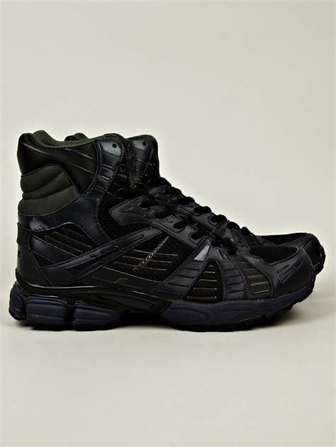 raf simons shoes on sale raf simons mens high top running sneaker in black for blue lyst