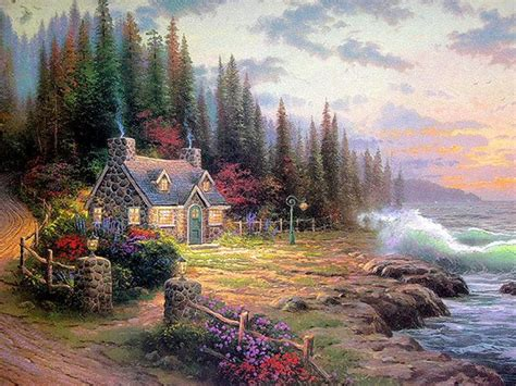 201 best art thomas kincade images on pinterest art