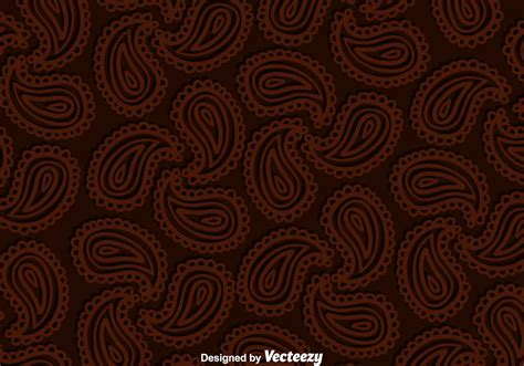 paisley brown background   vector art stock