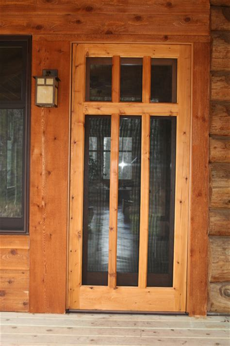 Handmade Screen Doors - custom wood screen door traditional screen doors