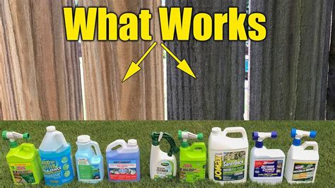 deck  fence cleaners review mold mildew algae