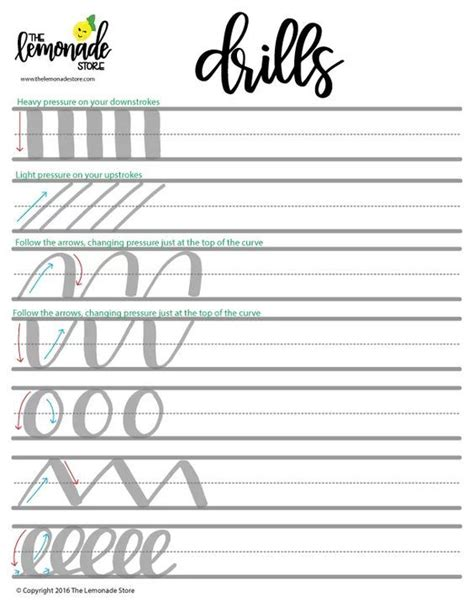 hand lettering tutorial worksheet how to perfect your skills with calligraphy practice