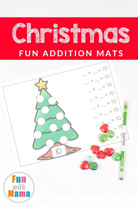 the christmas tree math problem math with tree addition mats with