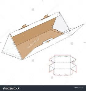 box template design triangular box with die cut template and layout stock