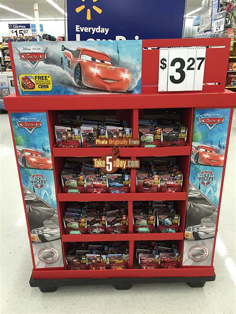 cars at walmart mattel disney pixar cars walmart cars floor display