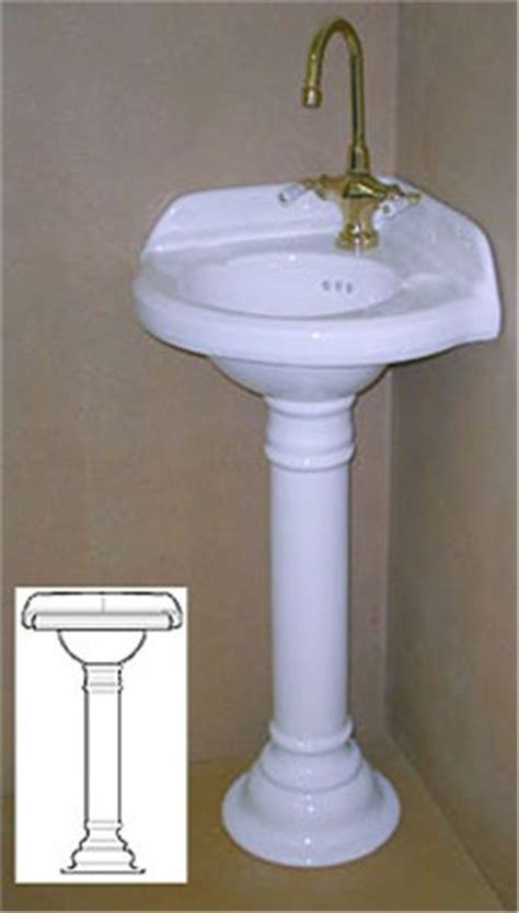 Corner Pedestal Sinks For Small Bathrooms Sinks And Pin By Koenig On Decorating Tips