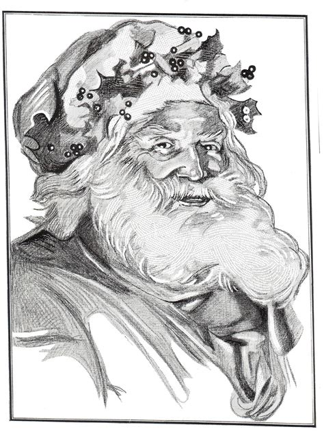vintage santa coloring page digital two for tuesday digital two for tuesday 156
