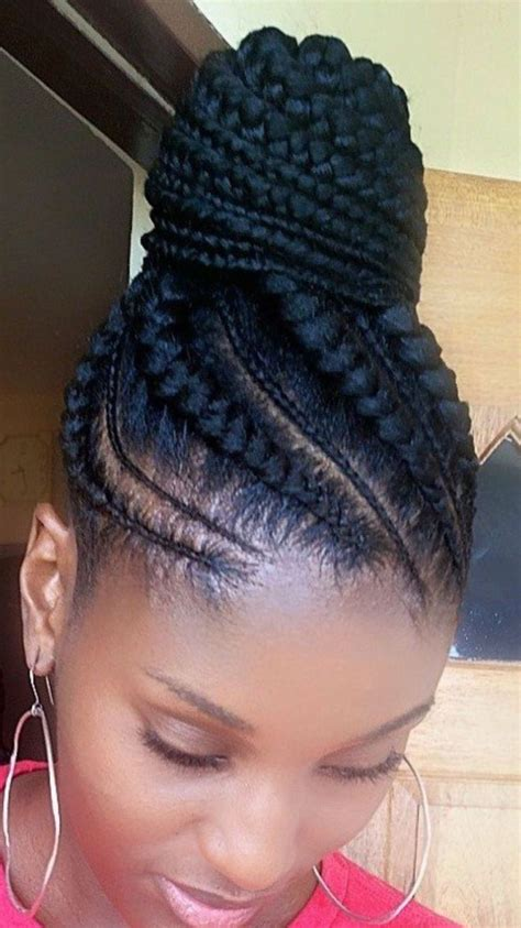 big cornrow hairstyles for black women with bangs jumbo cornrows ponytail for black women 1000 ideas about