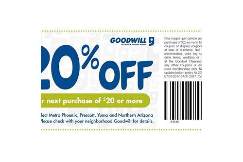 goodwill coupon mn