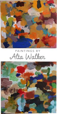 Walker Furniture Christmas Giveaway - a splash of color a dash of free form paintings by alta walker