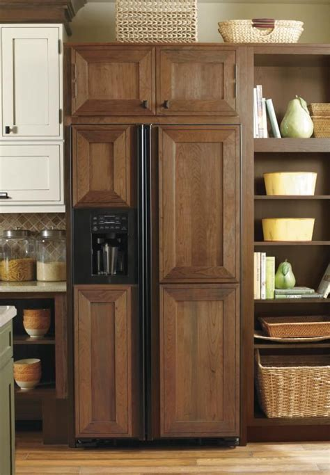 wood embellishments for cabinets hide unsightly appliances with custom appliance panels by