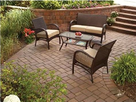 mainstays outdoor furniture wicker patio furniture 4 mainstays includes cushions