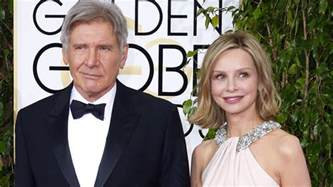 harrison ford s calista flockhart with him at