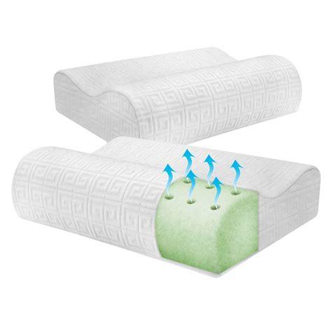 Memory Foam Pillow 2 Pack by Biopedic Key Classic Contour Memory Foam Pillow 2