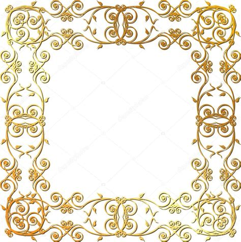cornici illustrator gold floral frame stock vector 169 panambapro 22855570