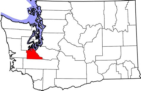 map of washington counties file map of washington highlighting thurston county svg