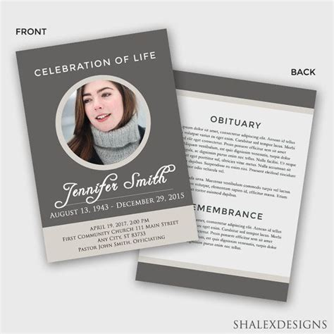 51 Best Funeral Program Templates Images On Pinterest Program Template Syllabus Template And Free Obituary Template Photoshop