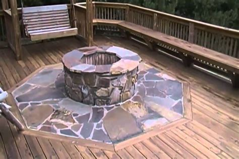 building a patio pit wood deck pit mat 187 design and ideas