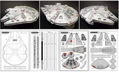 Millenium Falcon Papercraft - the millennium falcon is always cool no matter what it s