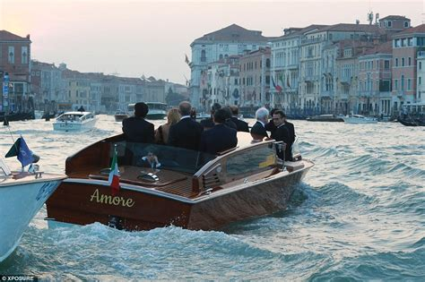 what are the boats in venice called george clooney marries amal alamuddin in blockbuster