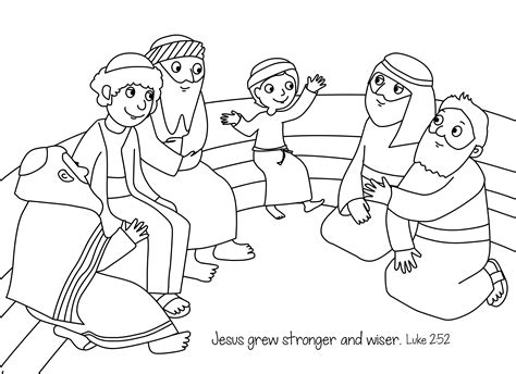 free bible coloring page jesus the boy